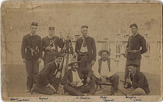 Maverick County, Texas - Soldiers in Eagle Pass in 1891, photo courtesy Southern Methodist University