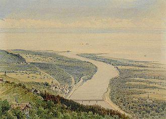 Alter Rhein - Image: Max Bach Rheineck Rheinmündung