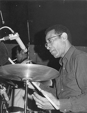 Jazz drumming - Max Roach (1924-2007), one of the pioneers of modern jazz drumming during the 1940s bebop era.