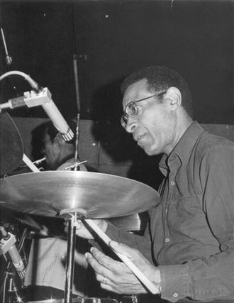 Jazz drumming - Max Roach (1924–2007), one of the pioneers of modern jazz drumming during the 1940s bebop era.