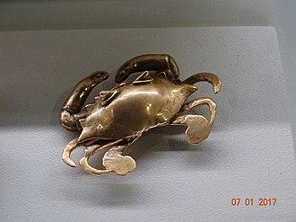 Pre-Columbian Gold Museum - Image: Maya gold crab