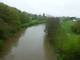 The Mayenne river at Saint-Loup-du-Gast