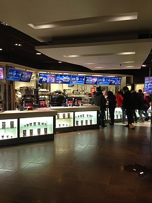 24/7 service - A McDonald's counter at night, Gothenburg, Sweden, 2013