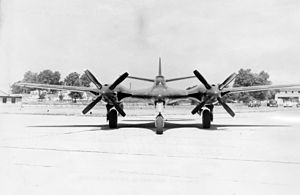 McDonnell XP-67 - Head-on view of the XP-67