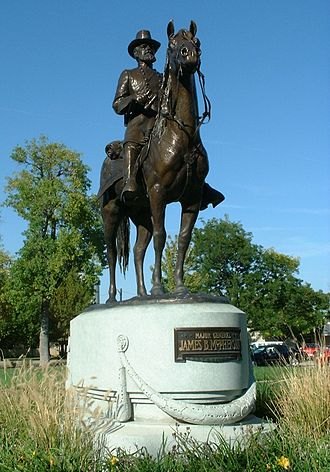 James B. McPherson - Sculpture in McPherson, Kansas