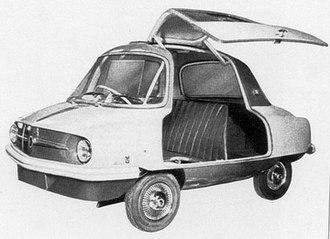 Meadows Frisky - The Michelotti-designed Meadows Frisky at the 1957 Geneva Show