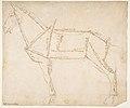 Measured Drawing of a Horse Facing Left (recto). MET DP812218.jpg