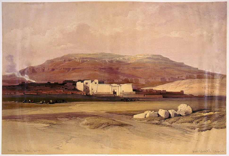 Medinet Abou, Thebes Dec-David Roberts