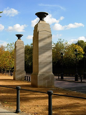 Memorial Gates, London - Two of the gate piers