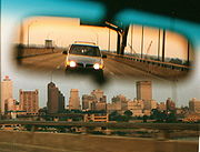 The Hernando DeSoto Bridge brings I-40 across the Mississippi River at Memphis.