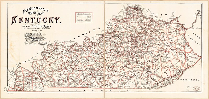 File:Mendenhall's Road map of Kentucky - showing pikes & roads, the on kentucky map, louisville map, ky co map, ky snow map, ky parkways map, ky airport map, ky hwy map, ky zip code map, ky pipeline map, ky weather map, lebanon ky map, paducah ky map, knox county ne platte map, ky city map, nicholasville ky map, florence ky map, ky district map, ky tn map, ky river map, ky state map,