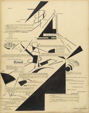 Agnes E. Meyer - Marius de Zayas and Agnes Meyer, Mental Reaction, visual poetry, 1915