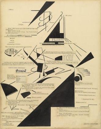 Agnes E. Meyer - Marius de Zayas and Agnes Meyer, Mental Reactions, visual poetry, 1915