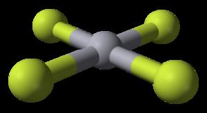 Mercury(IV) fluoride - Image: Mercury tetrafluoride 3D balls