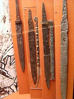 Merowingian seaxes Württembergisches Landesmuseum Stuttgart.jpg