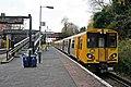 Merseyrail Class 508, 508127, Hunts Cross railway station (geograph 3787205).jpg