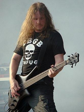 Meshuggah - Bassist Dick Lövgren, who joined Meshuggah in February 2004