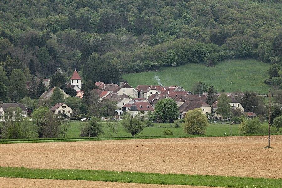 Vue de Mesmay (Doubs).