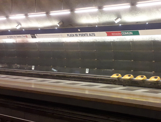 metro station in Santiago, Chile