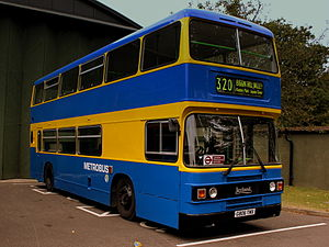 Metrobus (South East England) - Leyland Olympian in the yellow and blue livery used until the early 2000s
