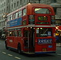 Metroline Routemaster bus route 98 Oxford Street 24 December 2003 cropped.jpg