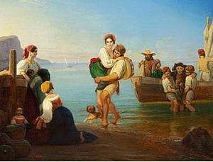 Ernst Meyer (painter) - Landing on Capri