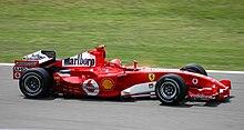 Ferrari F2005 guidata da Michael Schumacher