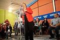Michelle Bachelet participa en un encuentro con dirigentes sociales y vecinales de Puente Alto. (8654744477).jpg