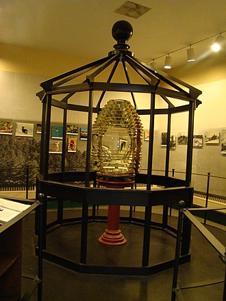 Michigan Island Light - Image: Michigan Island Lighthouse Lens