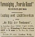 Middelburgsche Courant vol 160 no 291 advertisement De Stijl der Toekomst.jpg