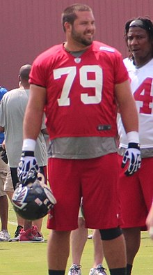 Mike Johnson (offensive lineman) 2013.jpg
