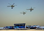 Mil Mi-17 helicopters at Air Force Day parade 2012.jpg