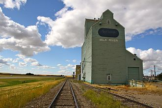 Milk River, Alberta - Grain elevators in Milk River
