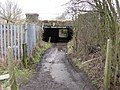 Mill Lane passes under the Railway Lines - geograph.org.uk - 726687.jpg