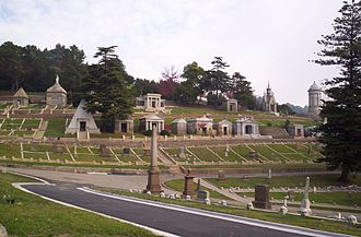 Mountain View Cemetery (Oakland, California) - Millionaire's Row, Mountain View Cemetery, Oakland, California.