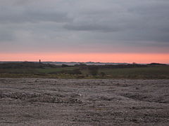 Millom - sunset looking out to Hodbarrow.JPG
