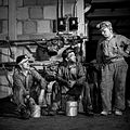 Miners break for lunch in the machine shop.jpg