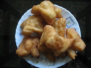 Youtiao - The youtiao is a popular breakfast food in Myanmar, where it is called e kya kway.