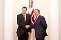 Ministru prezidents Valdis Dombrovskis tiekas ar Francijas satiksmes ministru Tjerī Mariāni (6748208977).jpg