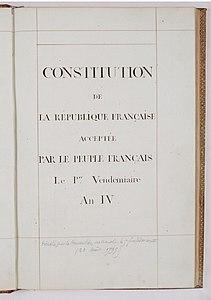 共和暦3年憲法's relation image
