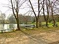 Mníšek pod Brdy, Stříbrná Lhota, rybník.JPG