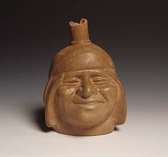 Portrait - Moche ceramic portrait. Larco Museum Collection. Lima-Peru