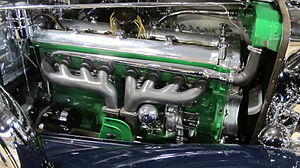 Straight-eight engine - Duesenberg Model J engine