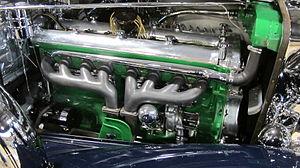 Straight-eight engine - Duesenberg Model J engine