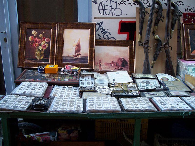 File:Monastiraki flea market antiques street.jpg