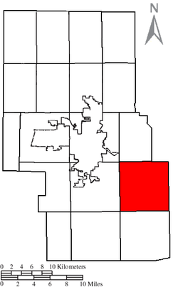 Location of Monroe Township in Richland County.