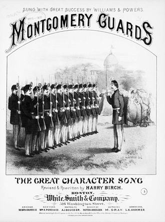"Montgomery Guards - ""Montgomery Guards"" sheet music, 1878"