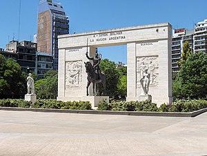 Caballito, Buenos Aires - Image: Monumento a Simon Bolivar (Buenos Aires)