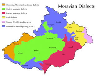 Moravian dialects varieties of Czech spoken in Moravia