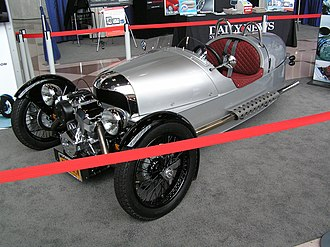 New York International Auto Show - Image: Morgan 3 Wheeler at New York International Auto Show 2012